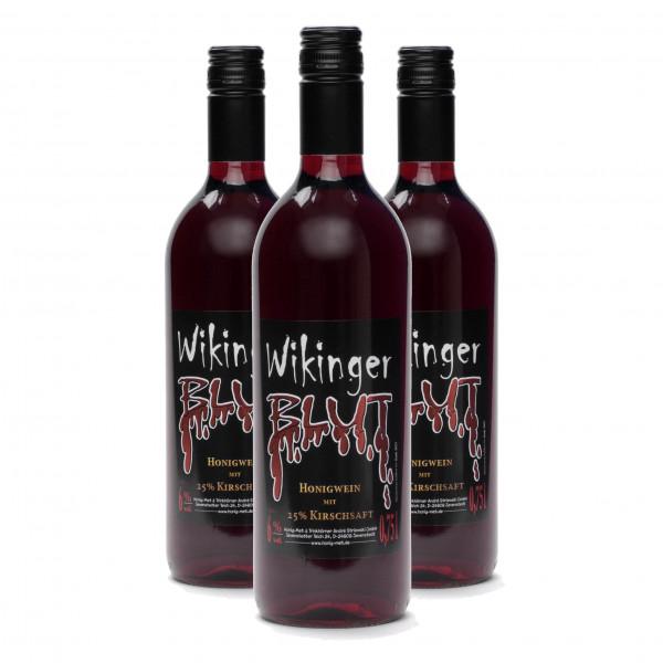 Met Wikingerblut - Honigwein mit Kirsch - 3 Flaschen