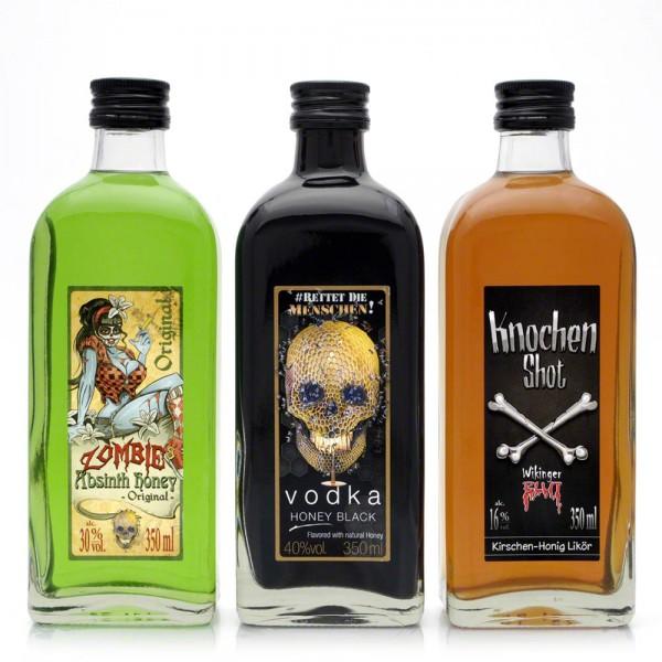"""Geschenkset 'Honey Spirits"""" - Kirschlikör-Vodka-Absinth mit Honig"""