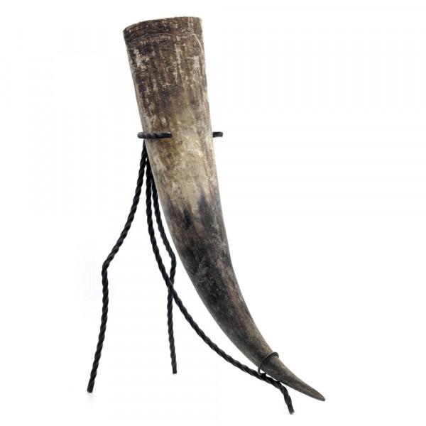 Trinkhorn, Met-Horn, Wikingerhorn aus echtem Rinderhorn, natur - 1,1 Liter, 1100 ml