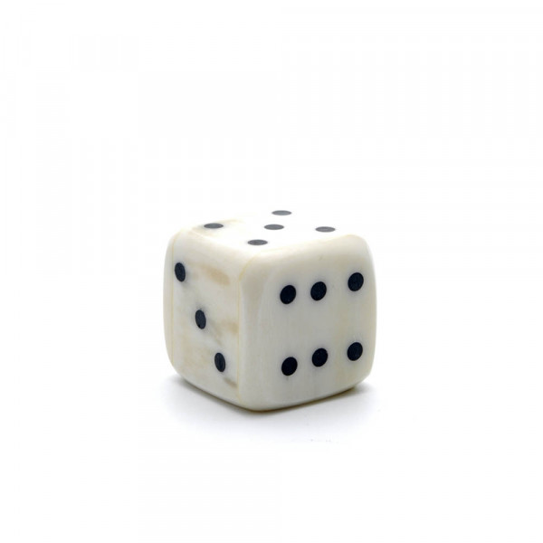 Würfel - echter Knochenwürfel - weiß, 20 mm