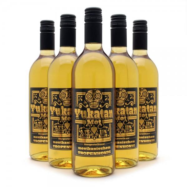 Met Yukatan - Honigwein mit mexikanischem Tropenhonig - 6 Flaschen Sparpaket
