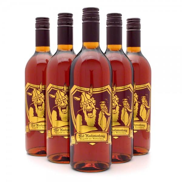 Met Kastanienhonig - Premium Honigwein aus sortenreinem Honig - 6 Flaschen Vorteilspaket