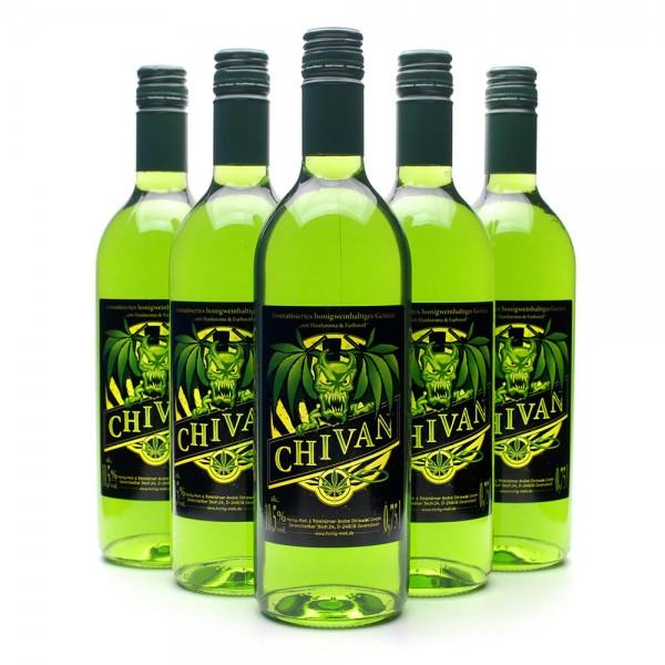 berauschender Met Chivan - Honigwein mit Hanf - 6 Flaschen Vorteilspaket