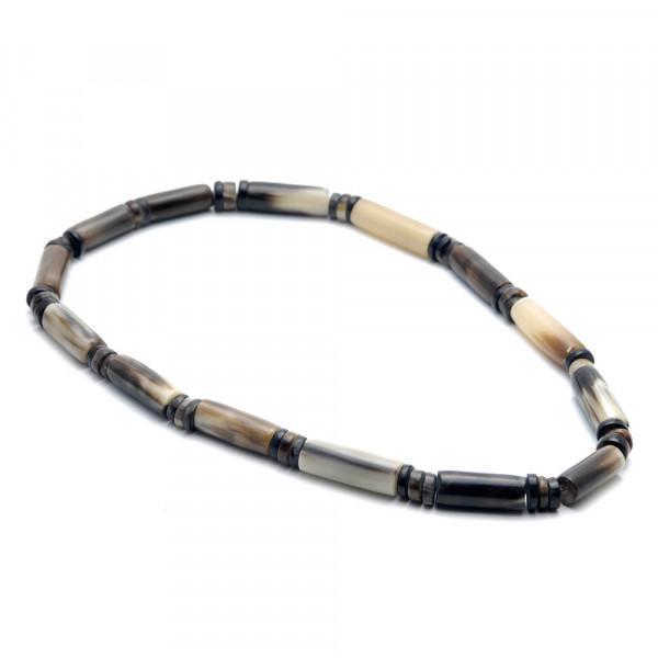 Halskette - echtes Horn, natur-braun - 55 mm - Vorschau