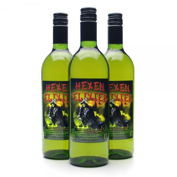 Met Hexenelixier - Honigwein mit Melone, Kiwi und Banane - 3 Flaschen Vorteilspaket