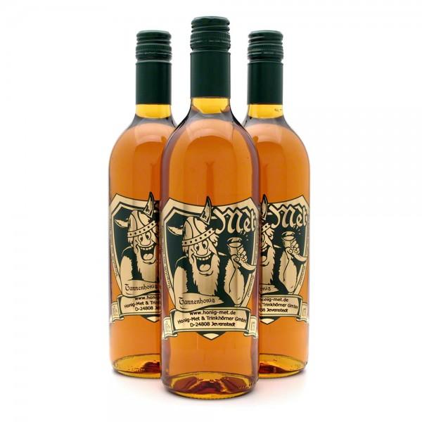 Met Tannenhonig - Premium Honigwein aus reinem Honig - 3 Flaschen Vorteilspaket