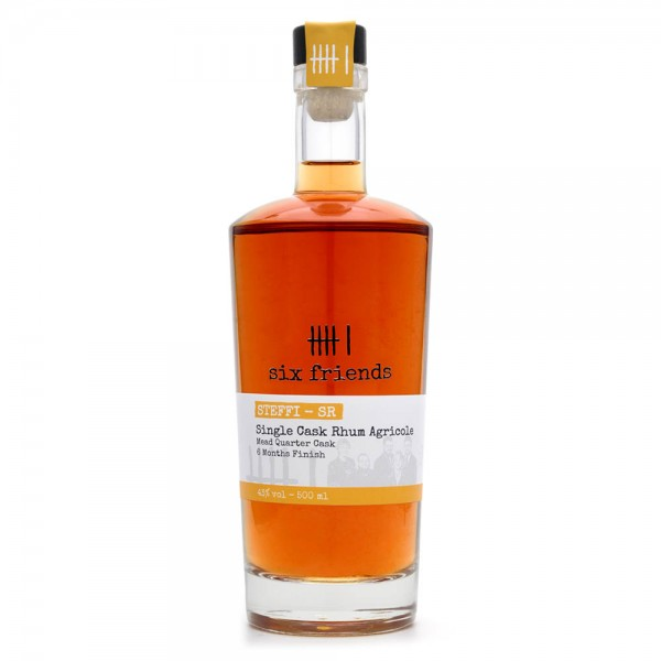 Rum - Six Friends - Single Cask Rhum Agricole - 44 % Vol - 500 ml