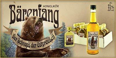 Bärenfang, bärenstarker Honig-Likör, auch als Klopfer