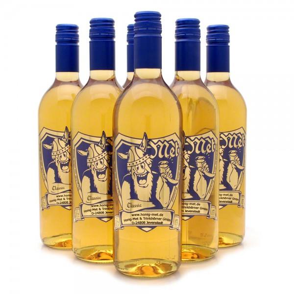 halbtrockener Met - Honigwein classic - 6 Flaschen Vorteilspaket