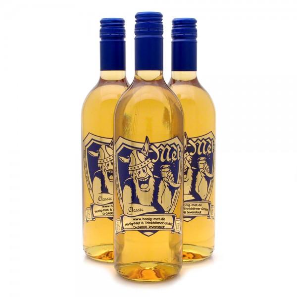 halbtrockener Met - Honigwein classic - 3 Flaschen Vorteilspaket