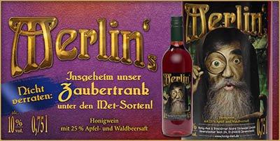 Merlins Waldbeer, zauberhafter Honigwein mit Waldbeeren und Apfel
