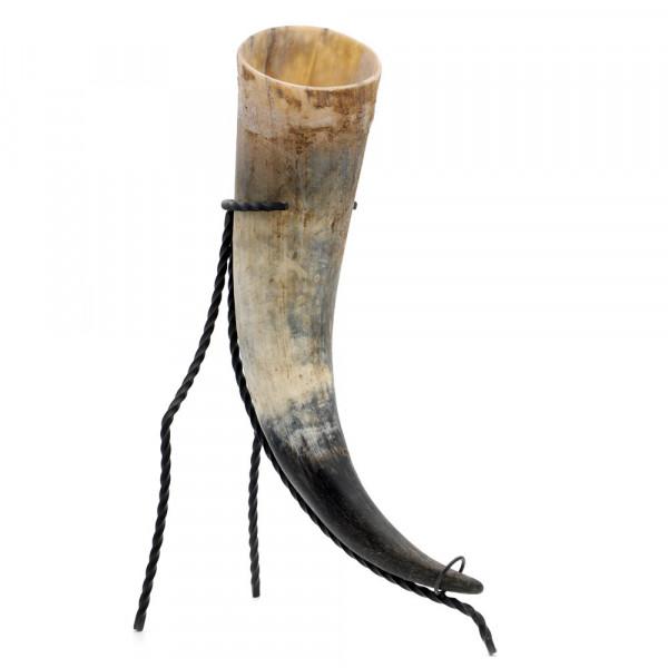 Trinkhorn, Met-Horn, Wikingerhorn aus echtem Rinderhorn, natur - 1400 ml, 1,4 Liter
