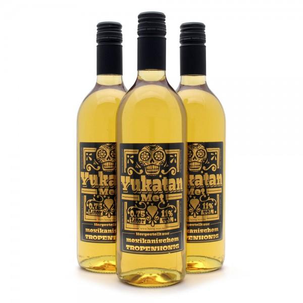 Met Yukatan - Honigwein mit mexikanischem Tropenhonig - 3 Flaschen Sparpaket