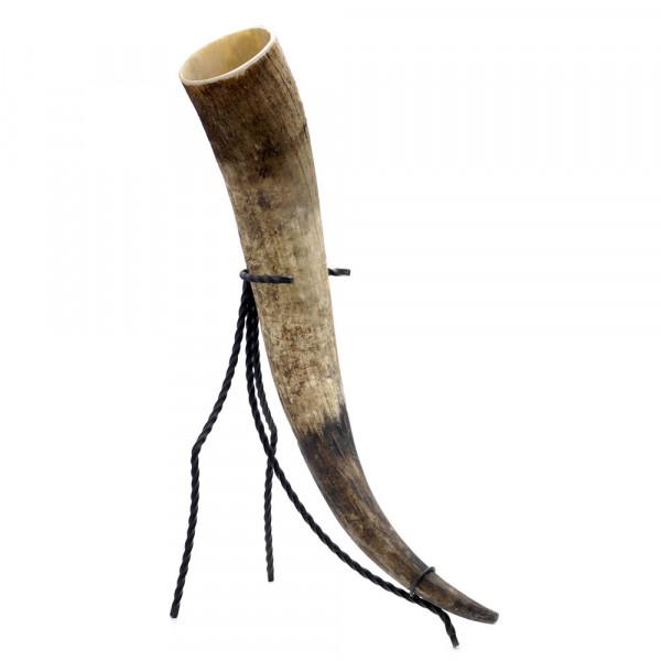 Trinkhorn, Met-Horn, Wikingerhorn aus echtem Rinderhorn, natur - 1300 ml, 1,3 Liter