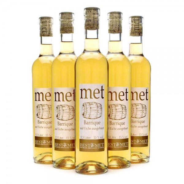 Met Barrique - fassgereifter Honigwein - 15% Vol. alc - 0,5 Liter - 6 Flaschen Vorteilspaket