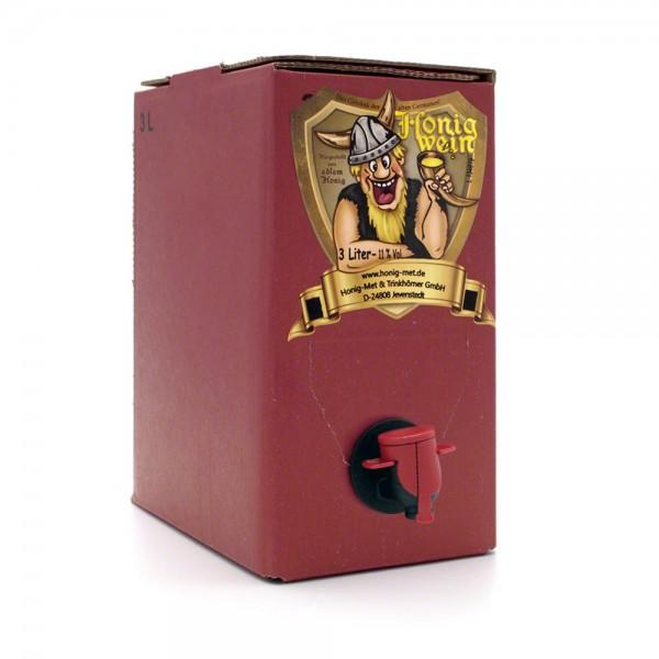 Met lieblich - Honigwein süß - 3 Liter Bag-in-Box - Karton - Front