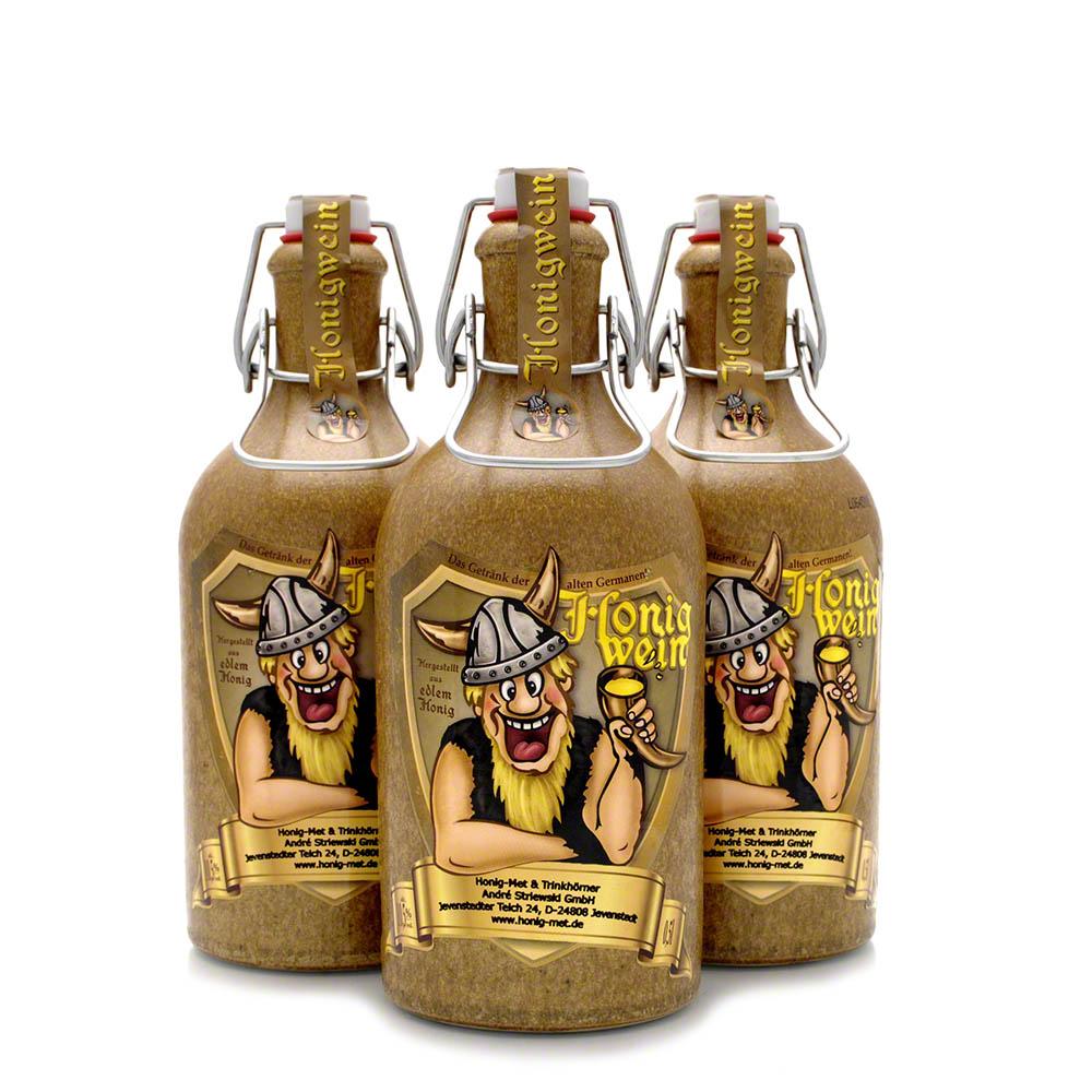 3 Tonflaschen