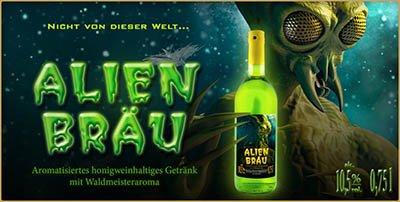Alien Bräu, extraterrestrischer Waldmeister-Met