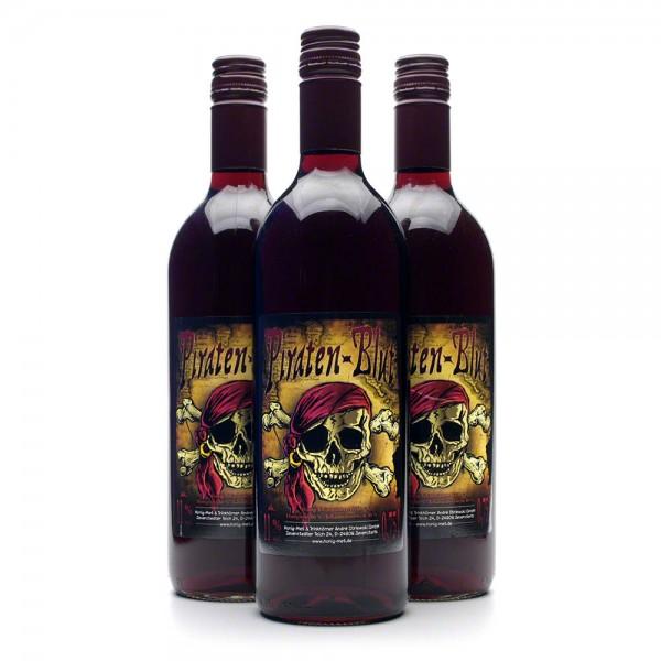 Met Piratenblut - Honigwein mit Johannisbeere - 3 Flaschen Vorteilspaket