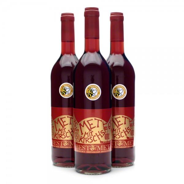 Roter Met - Honigwein mit Kirschsaft - Kirschmet, Odinsblut, Wikingerblut - 3 Flaschen