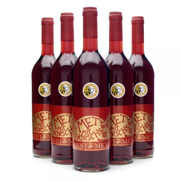 Roter Met - Honigwein mit Kirschsaft - Kirschmet, Odinsblut, Wikingerblut - 6 Flaschen