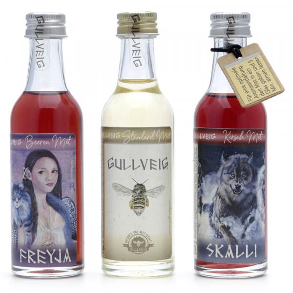 """Met Gullveig - Honigwein Probierset """"Tastings"""" - 3 x 50 ml"""
