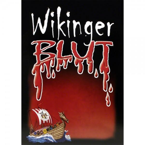 Plakat Wikingerblut mit Wikinger-Langschiff, Poster A3