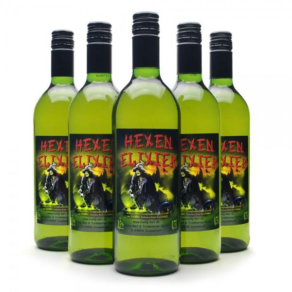 Met Hexenelixier - Honigwein mit Melone, Kiwi und Banane - 6 Flaschen Vorteilspaket