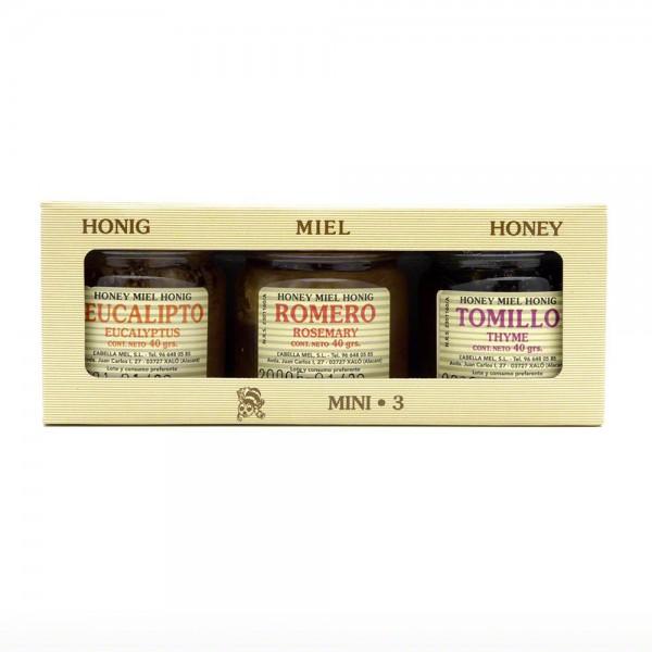 Honig Probierpaket L'abella - 3 x 40 g unsoertiert - Mini 3 - Variante 1 im Karton
