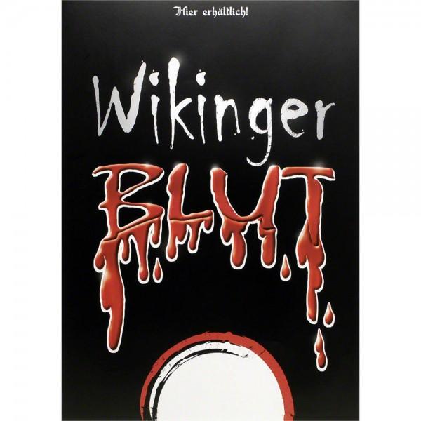 Plakat Wikingerblut mit großem Schriftzug, Poster A3