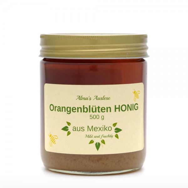 Honig - Orangenblütenhonig -- Fairtrade - 500g Glas