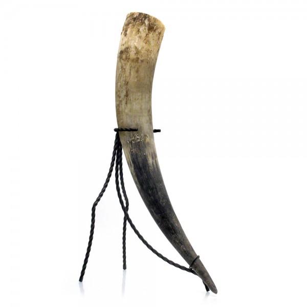 Trinkhorn, Met-Horn, Wikingerhorn aus echtem Rinderhorn, natur - 1,2 Liter, 1200 ml