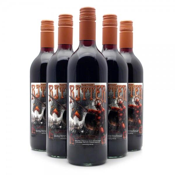 Met Rostiger Ritter - Honigwein mit 20% Cranberry-Fruchtwein - 6 Flaschen Vorteilspaket