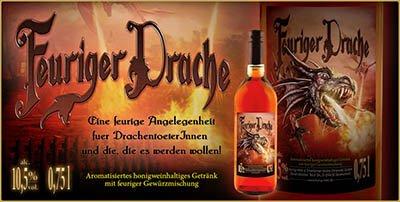 Feuriger Drache, feurig-scharfer Gewürz-Honigwein