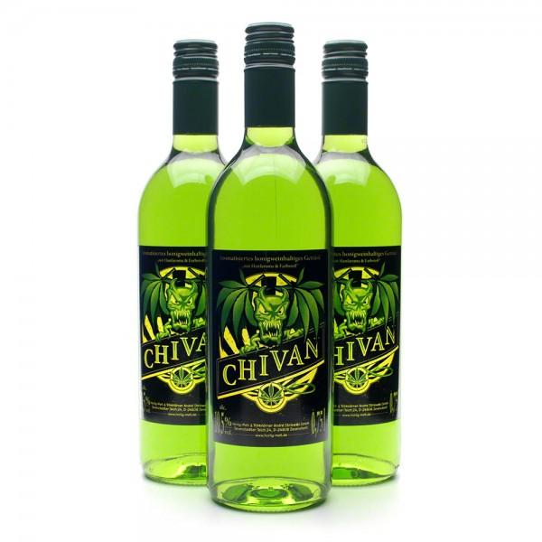 Met Chivan - Honigwein mit Waldmeister - 3 Flaschen Vorteilspaket