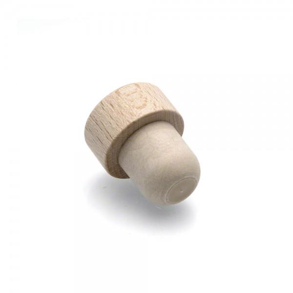 Holzgriffkorken - Verschluss für Spirituosen, Met und Wein - Holz natur - liegend
