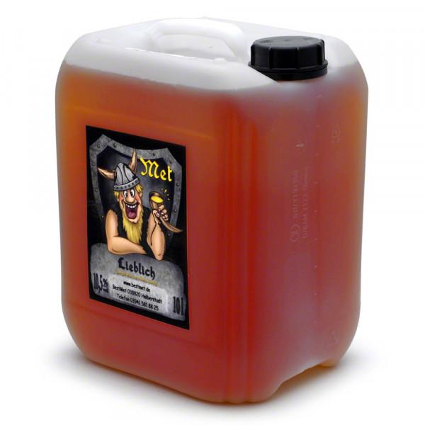 Lieblicher Honigwein - Honig-Met süß - 10 Liter Kanister