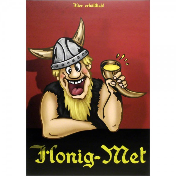 Plakat Honig-Met mit Wikinger, Poster A3