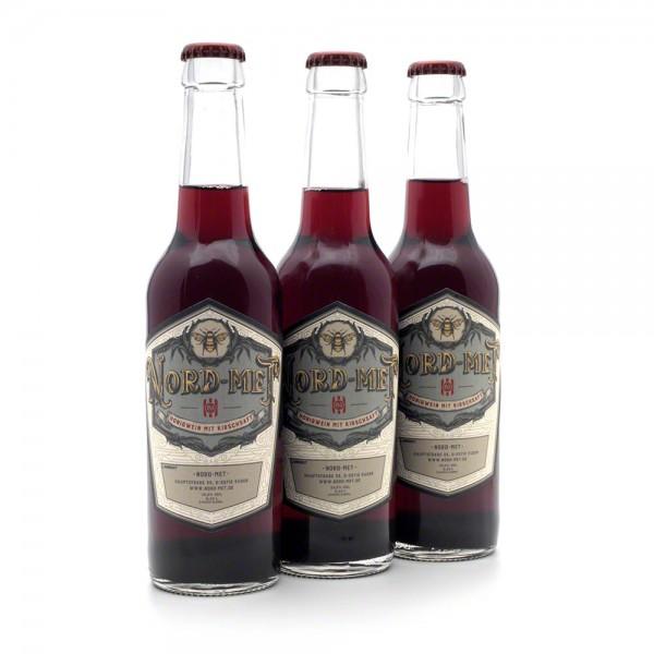 Nord-Met Honigwein mit Kirschsaft - 3x 0,33 Liter Flaschen