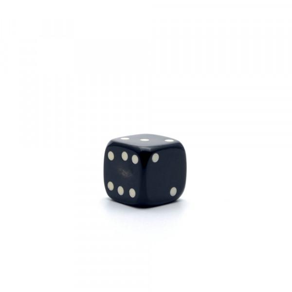 Würfel - echter Hornwürfel - schwarz, 15 mm - einzeln