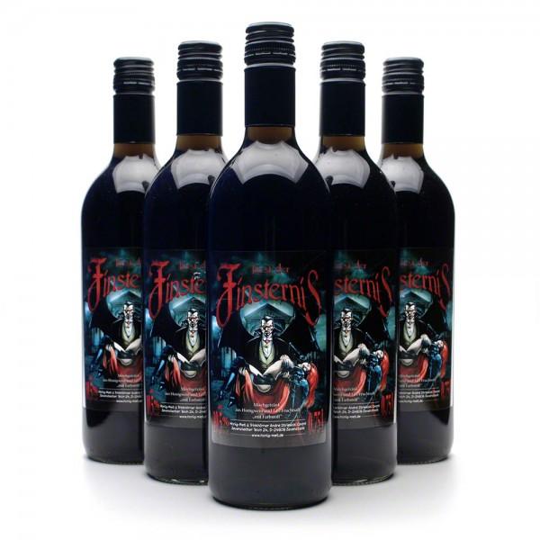 geheimnisvoller Met Fürst der Finsternis - schwarzer Honigwein - 6 Flaschen Vorteilspaket