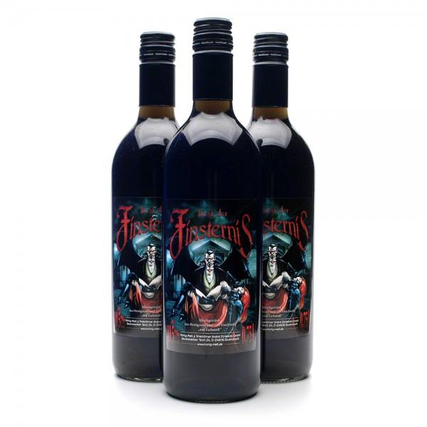 geheimnisvoller Met Fürst der Finsternis - schwarzer Honigwein - 3 Flaschen Vorteilspaket
