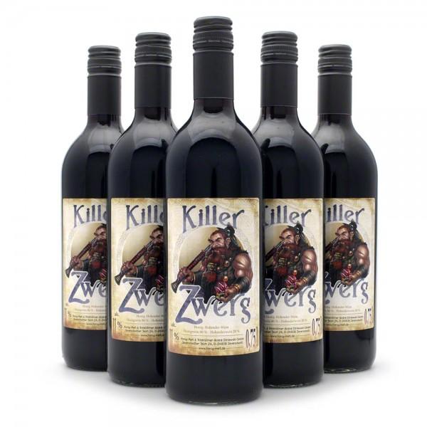 Met Killer Zwerg - Honigwein mit 20% Holunderwein - 6 Flaschen Vorteilspaket