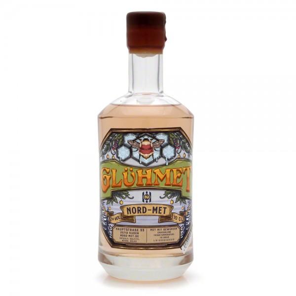 Nord-Met Honigwein Glühmet - Gewürzmet Mandel - 0,7 Liter Flasche