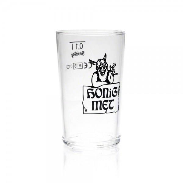 Metglas - Trinkglas - Honig-Met mit Wikinger - 100 ml