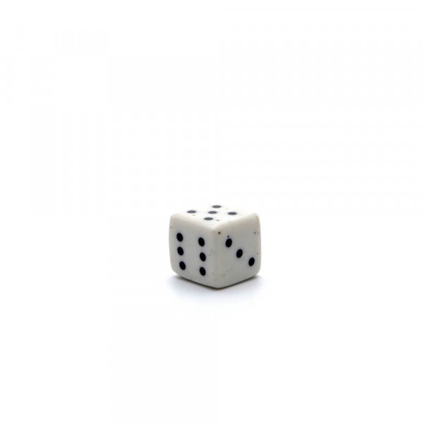 Würfel - echter Knochenwürfel - weiß, 10 mm
