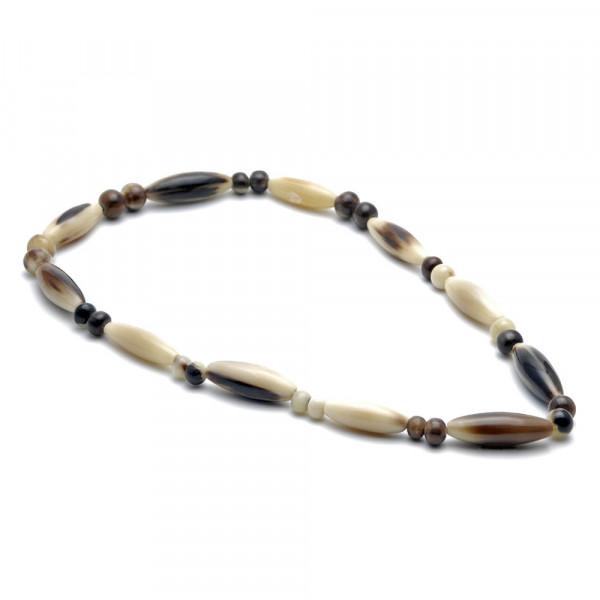 Halskette - echtes Horn, natur-braun - 60 mm - Vorschau