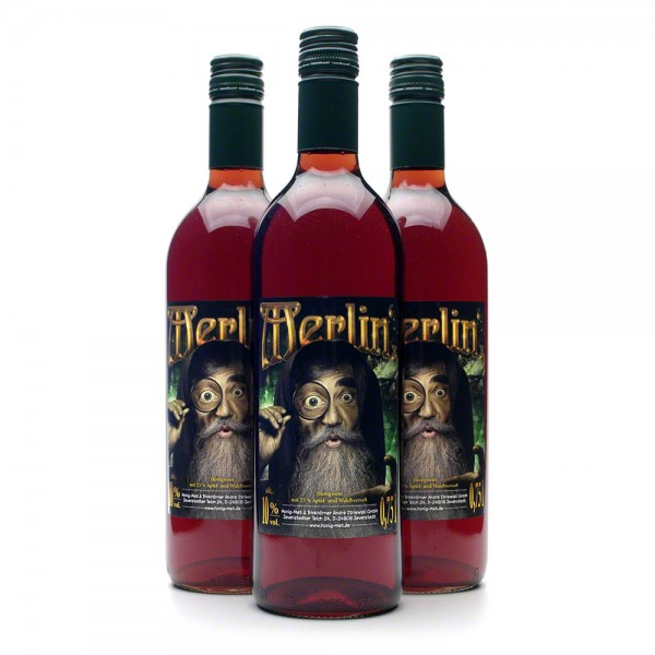 Met Merlin's - Honigwein mit Waldbeeren und Apfel - 3 Flaschen Vorteilspaket