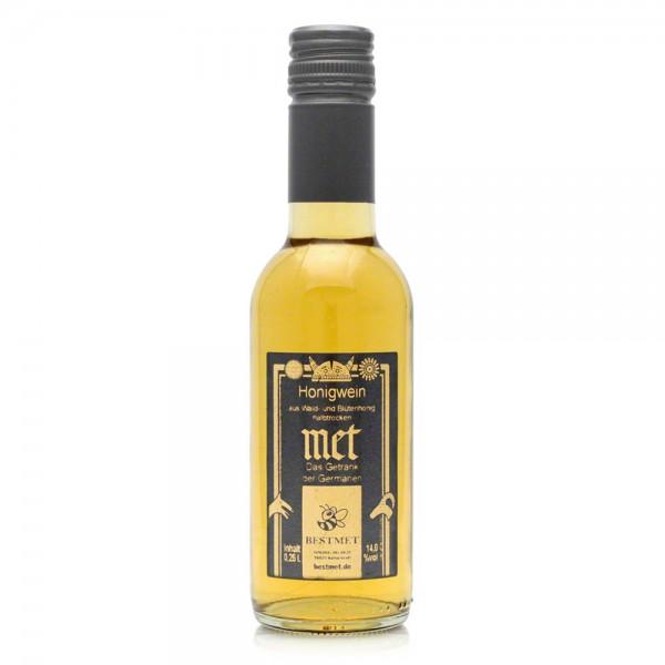 Met Wald & Blütenhonig - Honigwein halbtrocken - Piccolo - 14% Vol. alc - 0,25 Liter