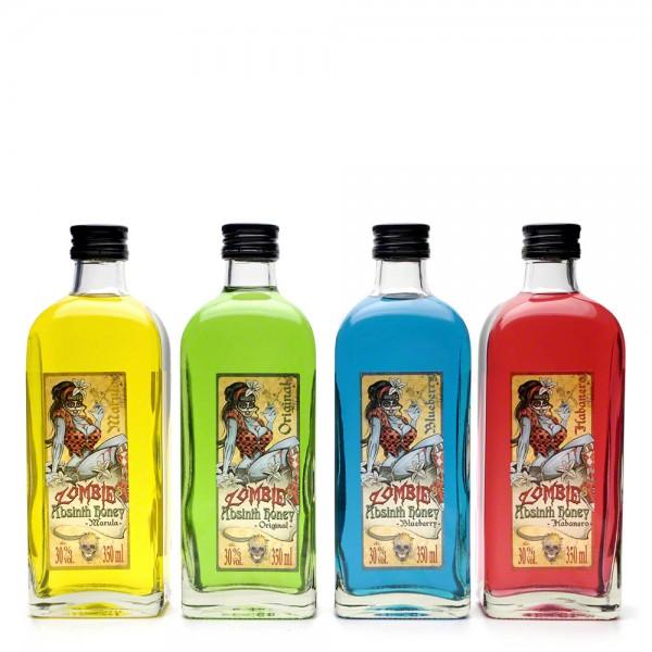 Absinth Original - Zombie's Absinth Honey - Honiglikör - Geschenkset mit 4 Geschmacksrichtungen